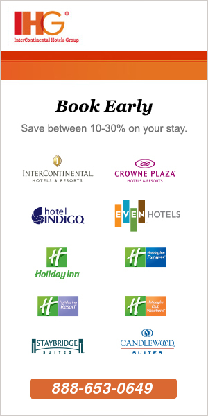 IHG Toll Free Telephone Number for Reservations